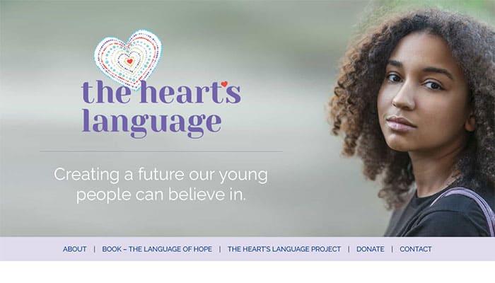 The Heart's Language portfolio